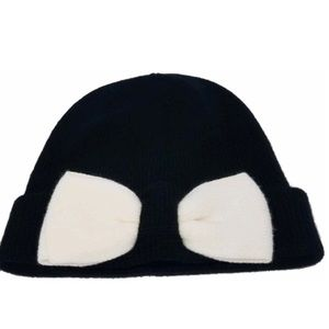 NWT Kate Spade Beanie with Colorblock Bow